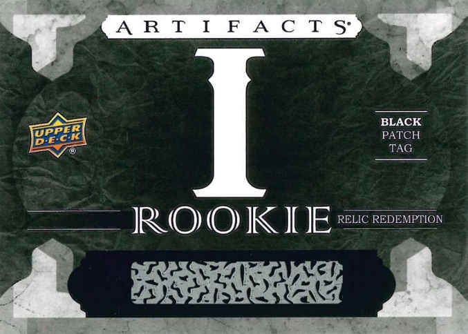 2016-17 Upper Deck Artifacts Hockey Rookie Relic Redemption Black Patch Tag