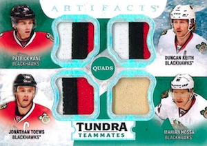 2016-17 Upper Deck Artifacts Hockey Tundra Teammates Quads