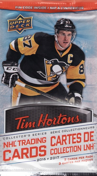 2016-17 Upper Deck Tim Hortons Hockey pack