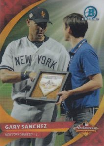 2016 Bowman Chrome Baseball 2015 AFL Fall Stars Game MVP Gary Sanchez SP