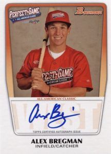 2016 Bowman Chrome Baseball All-America Game Autographs Alex Bregman