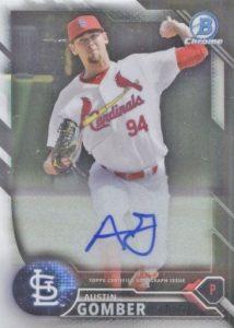 2016 Bowman Chrome Baseball Prospect Autographs Austin Gomber