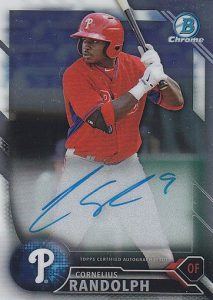 2016 Bowman Chrome Baseball Prospect Autographs Cornelius Randolph