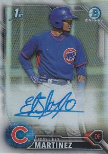2016 Bowman Chrome Baseball Prospect Autographs Eddy Julio Martinez