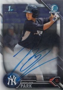 2016 Bowman Chrome Baseball Prospect Autographs Hoy-Jun Park