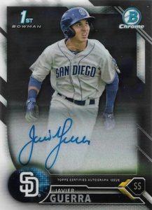 2016 Bowman Chrome Baseball Prospect Autographs Javier Guerra