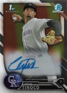 2016 Bowman Chrome Baseball Prospect Autographs Jesus Tinoco