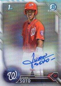 2016 Bowman Chrome Baseball Prospect Autographs Juan Soto
