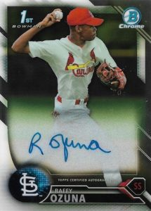 2016 Bowman Chrome Baseball Prospect Autographs Raffy Ozuna