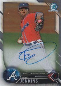 2016 Bowman Chrome Baseball Prospect Autographs Tyrell Jenkins