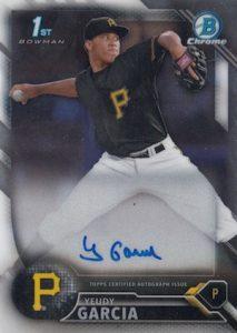 2016 Bowman Chrome Baseball Prospect Autographs Yeudy Garcia