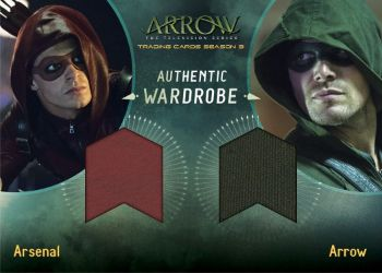 2017 Cryptozoic Arrow Season 3 Dual Wardrobe Arsenal and Arrow