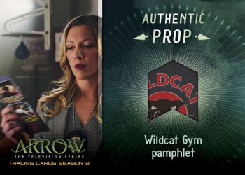 2017 Cryptozoic Arrow Season 3 Prop Wildcat Gym Pamphlet