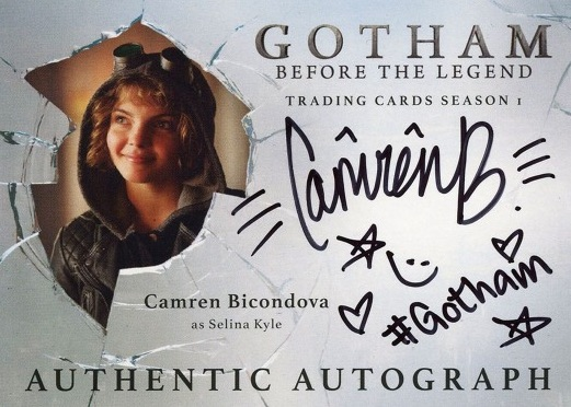 2016 Cryptozoic Gotham Season 1 Trading Cards - Camren Bicondova as Selina Kyle Autographs 3