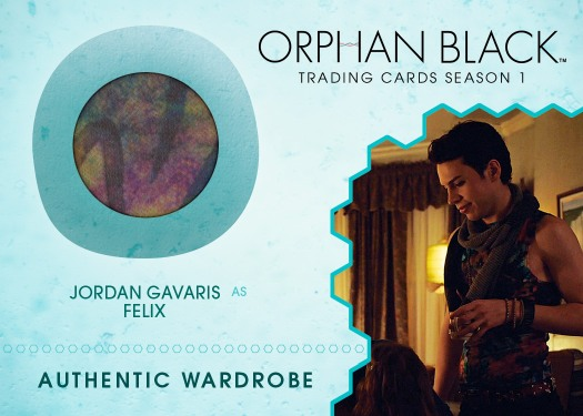2016 Cryptozoic Orphan Black Season 1 Wardrobe Jordan Garvis as Felix