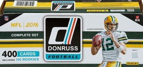 2016 Donruss Football Cards - Factory Set 3