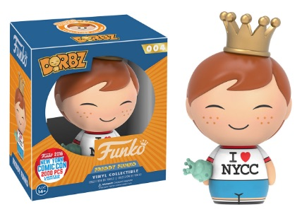 2016 Funko New York Comic Con Exclusives Dorbz #004 Freddy Funko I Heart NYCC