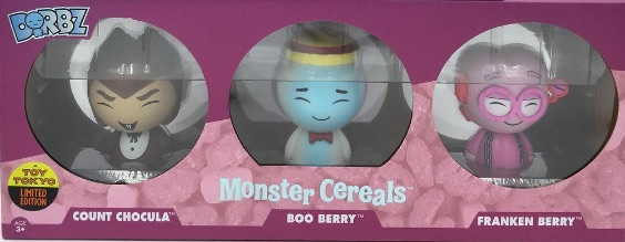 2016 Funko New York Comic Con Exclusives Dorbz Monster Cereals 3-Pack Frankenberry, Count Chocula & Booberry Toy Tokyo