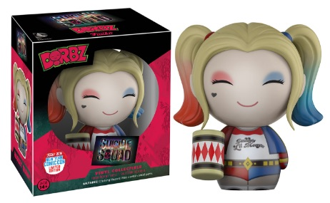 2016 Funko New York Comic Con Exclusives Dorbz Suicide Squad Harley Quinn with Mallet