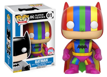 2016 Funko New York Comic Con Exclusives Pop DC Super Heroes #01 Batman Rainbow