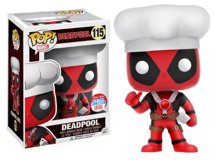 2016 Funko New York Comic Con Exclusives Pop Deadpool #115 Chef Deadpool