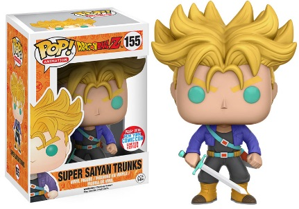 2016 Funko New York Comic Con Exclusives Pop Dragonball Z #155 Super Saiyan Trunks