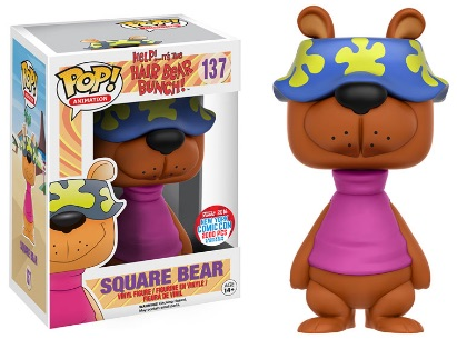 2016 Funko New York Comic Con Exclusives Pop Hair Bear Bunch #137 Square Bear