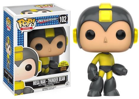 2016 Funko New York Comic Con Exclusives Pop Megaman #102 Thunder Beam Mega Man Toy Tokyo