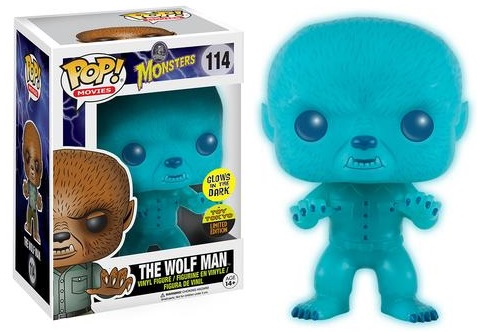 2016 Funko New York Comic Con Exclusives Pop Monsters #114 Glow-in-the-Dark Wolfman Toy Tokyo
