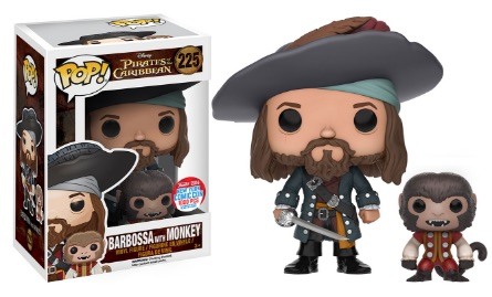 2016 Funko New York Comic Con Exclusives Pop Pirates of the Caribbean #225 Barbossa with Monkey