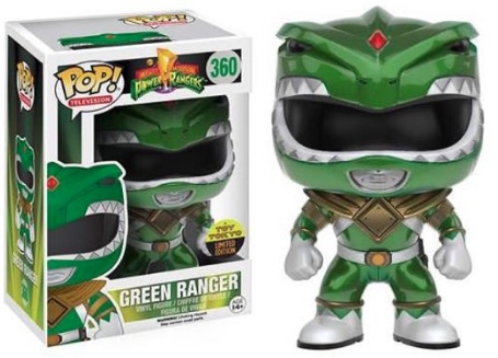 2016 Funko New York Comic Con Exclusives Pop Power Rangers 360 Green Ranger Metallic Toy Tokyo