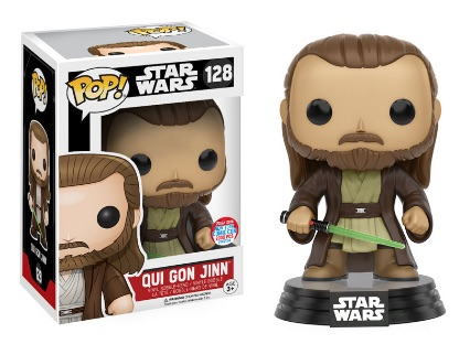 2016 Funko New York Comic Con Exclusives Pop Star Wars #128 Qui Gon Jinn