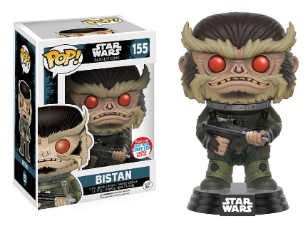 2016 Funko New York Comic Con Exclusives Pop Star Wars #155 Bistan