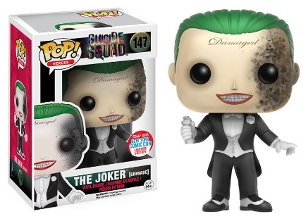 2016 Funko New York Comic Con Exclusives Pop Suicide Squad #147 The Joker Grenade Damage