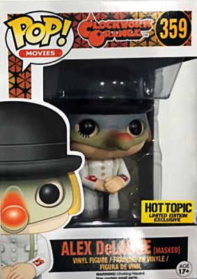 2016 Funko Pop Clockwork Orange  Alex DeLarge Masked Hot Topic