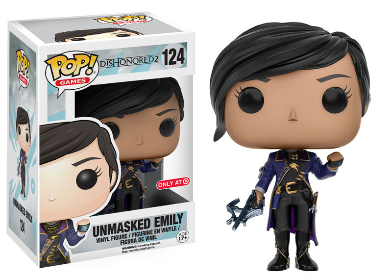 2016 Funko Pop Dishonored 2 124 Unmasked Emily Target