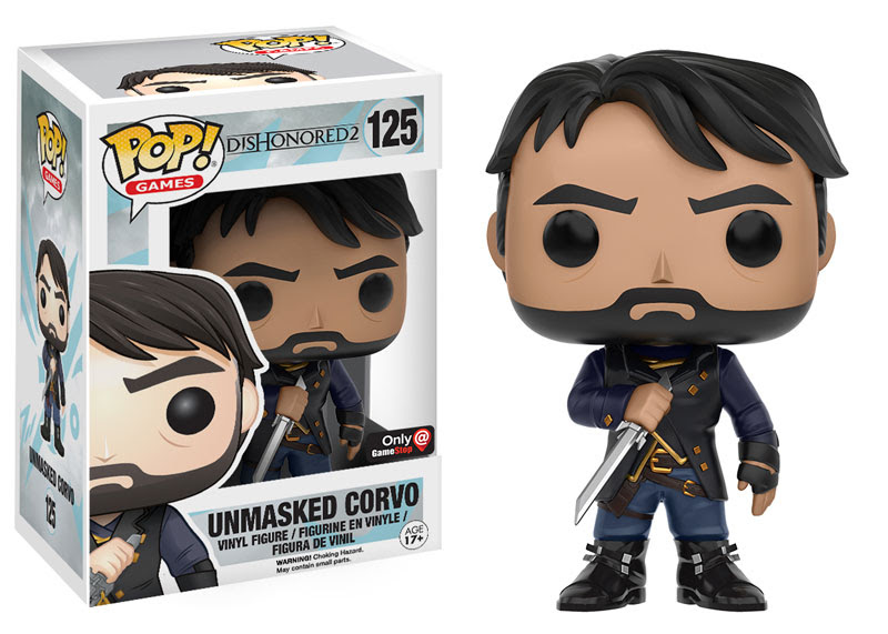 2016 Funko Pop Dishonored 2 125 Unmasked Corvo GameStop