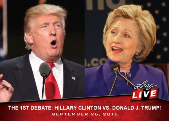 2016 Leaf Live Trading Cards Clinton v Trump