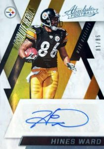 2016 Panini Absolute Football Absolute Heroes Autographs Numbers Hines Ward