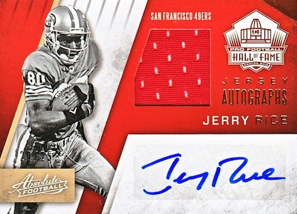 2016 Panini Absolute Football Hall of Fame Jersey Autographs Jerry Rice