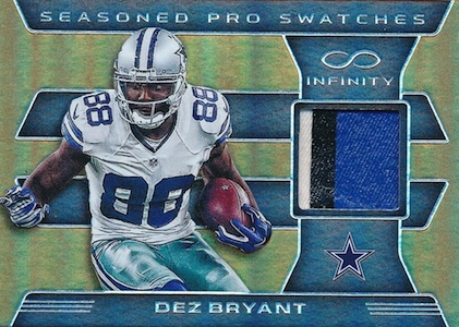 2016 Panini Infinity Football Seasoned Pros Swatches Prime Dez Bryant