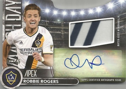 2016 Topps Apex MLS Major League Soccer Cards - Product Review & Hit Gallery Added 25