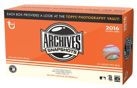 2016 Topps Archives Snapshots Baseball Box