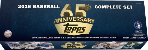 2016 Topps Baseball Complete Set - 65th Anniversary Online Exclusive 1
