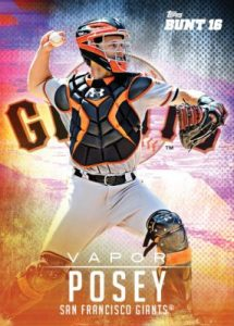 2016 Topps Crossover Set 4 Bunt Vapor Buster Posey