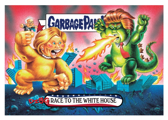2016-17 Topps Garbage Pail Kids Disg-Race to the White House - Updated 1