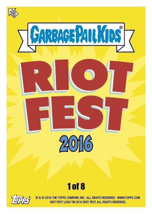 2016 Topps Garbage Pail Kids Riot Fest main