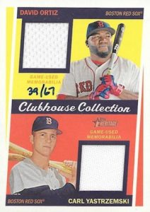 2016 Topps Heritage High Number Baseball Clubhouse Collection Dual Relics