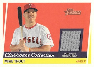 2016 Topps Heritage High Number Baseball Clubhouse Collection Relics Trout