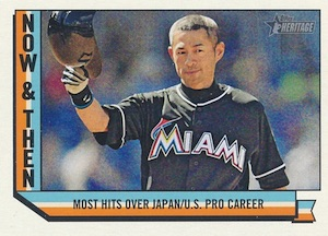 2016 Topps Heritage High Number Baseball Now and Then Ichiro